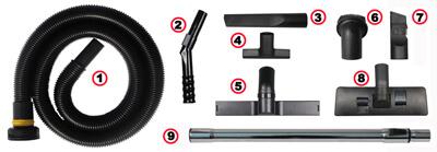 不锈钢商用吸尘器S1-40L标准配件